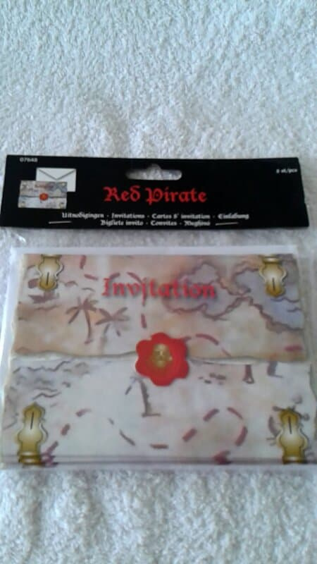 Red Piraten uitnodigingen - 8 stuks