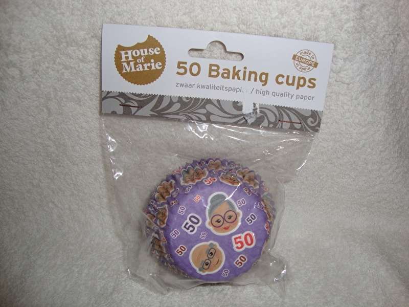 Cupcake vormpjes Abraham/Sara 50 jaar 50 stuks House of Marie