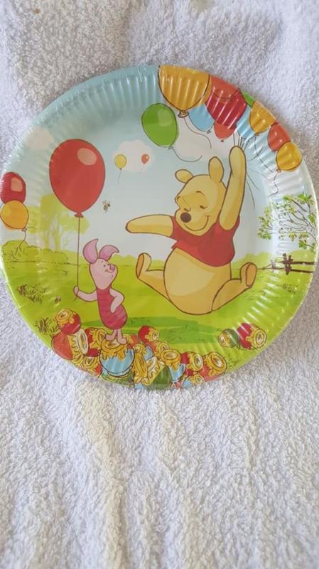 Winnie the Pooh papieren borden 10 stuks