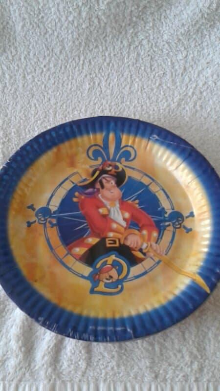 Piet Piraat Borden - 8 stuks