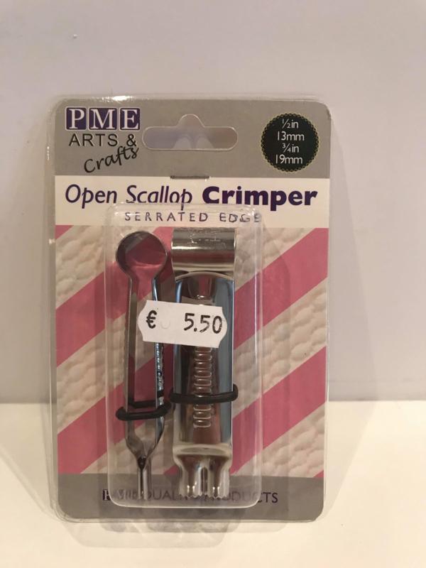 PME Open Scallop Ovaal Crimper - gekartelde rand - OS270