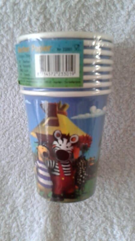 Zigby de Zebra Bekers 8 stuks