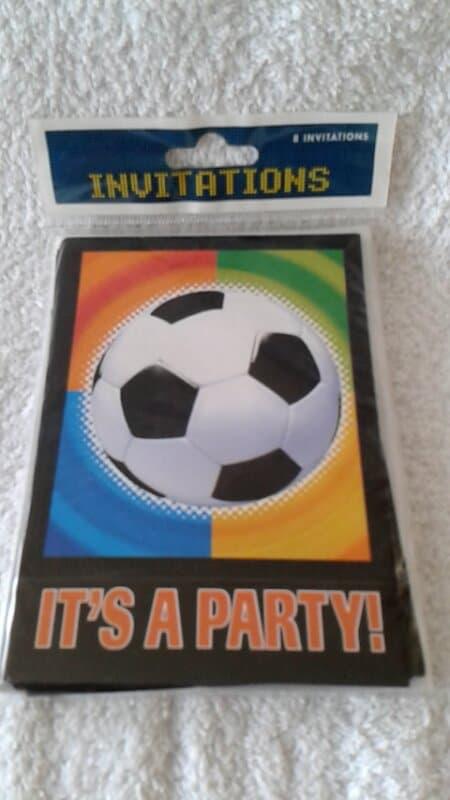 Voetbal Uitnodigingen - 8 stuks