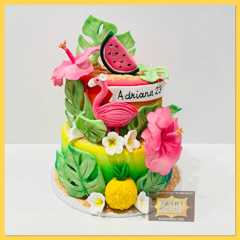 Tropische taart 16 personen
