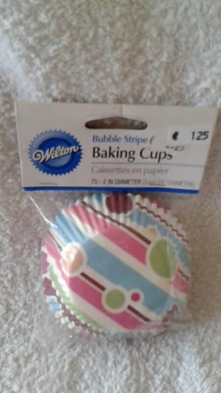Cupcake vormpjes Bubbels en strepen 75 stuks Wilton - 415-114