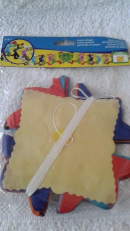 Ballonnen slinger papier 6 meter