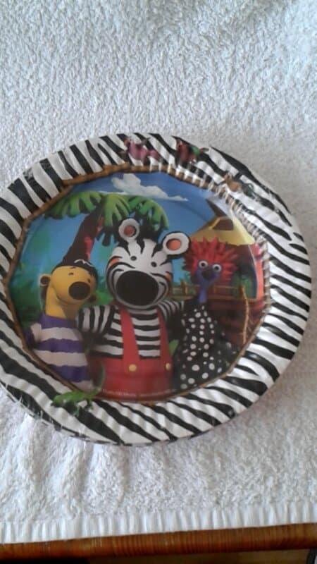 Zigby de Zebra Borden - 8 stuks