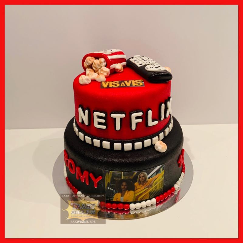 Netflix taart 16 personen