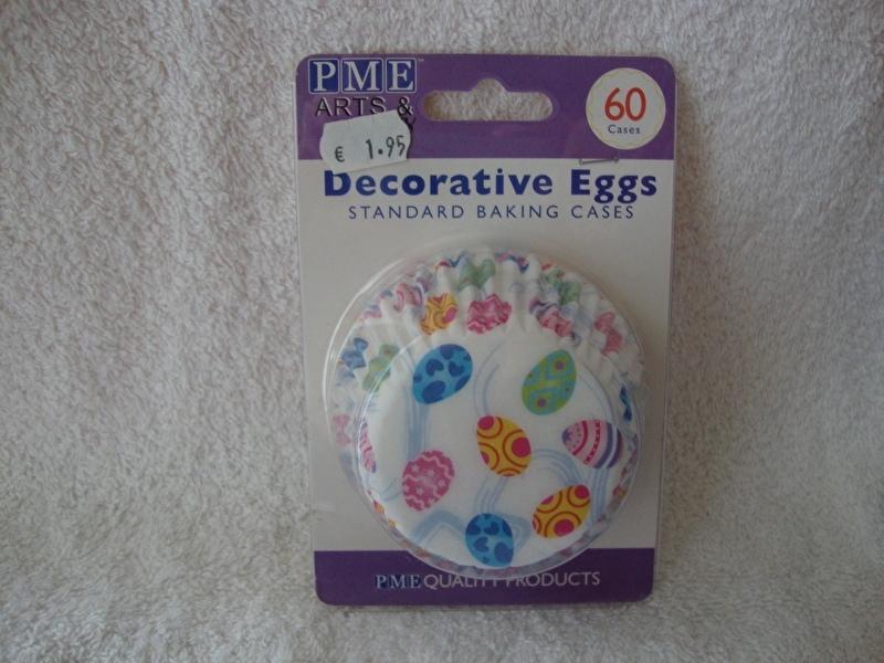 Cupcake vormpjes met Paaseieren 60 stuks PME