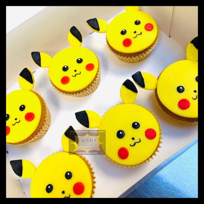 Cupcakes Pickachu 6 stuks