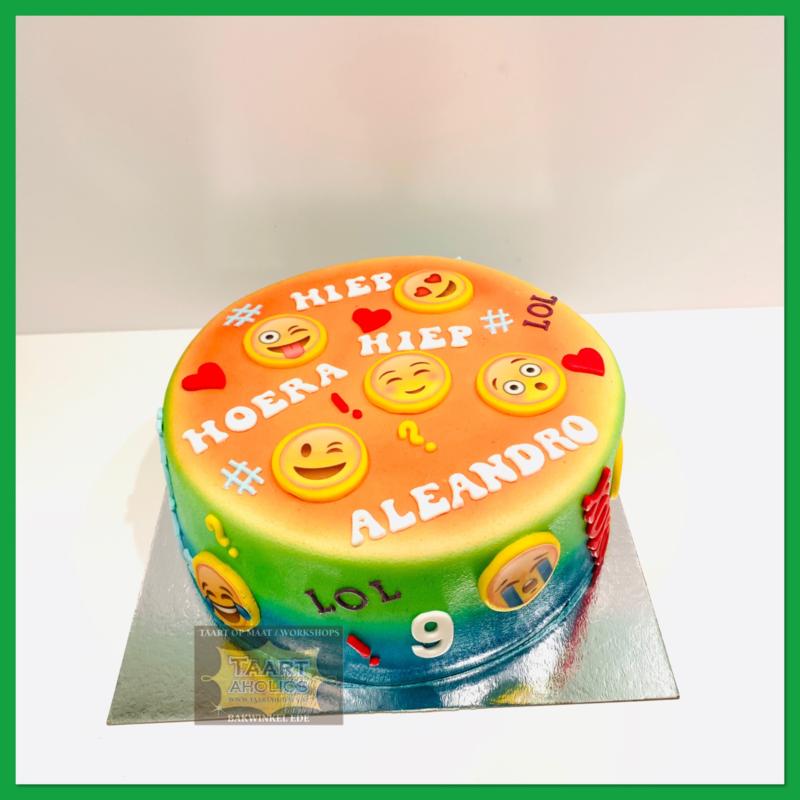Smiley taart 10 personen