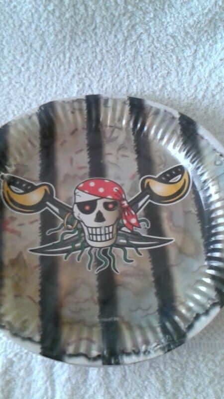 Red Piraten Borden - 8 stuks
