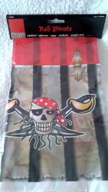 Red Piraten plastic Tafelkleed