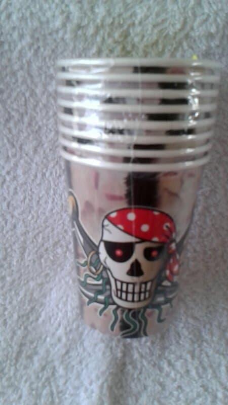 Red Piraten Bekers - 8 stuks