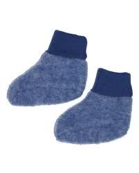 Cosilana wolflleece slofjes blauw