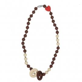 Chewelry Twiggy Twist Chocolate/off white