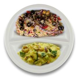 Veg. Italiaanse groentestoof, couscous met olijven
