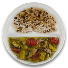 Kip Hawaï, rijst met linzen en ui