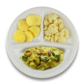 Veg. Italiaanse groentestoof, gekookte aardappelen, bloemkool