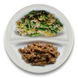 Daging roedjak, surinaamse rijst