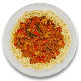 Spaghettischotel bolognese ZONDER TOEGEVOEGD ZOUT
