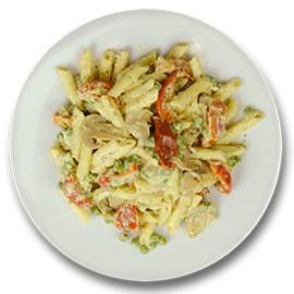Vegetarische pastaschotel met tomaten ZONDER TOEGEVOEGD ZOUT