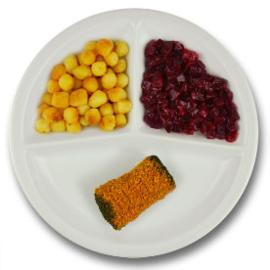 Runderboomstammetje met vleesjus, gebakken aardappelen, rode bieten