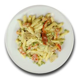 Veg. pastaschotel met tomaten