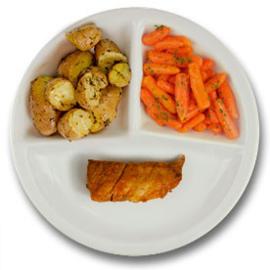 Kalkoenhaasje kruidenjus, roseval kriel met tijm, wortelen peterselie