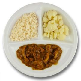 Runderhachee, witte rijst, bloemkool GLUTENVRIJ
