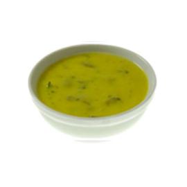 Gebonden kerrie-champignonsoep