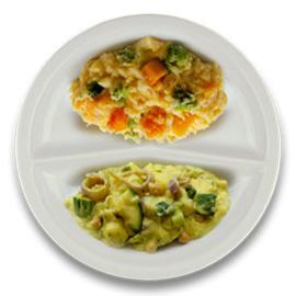 Vegetarische Italiaanse groentestoof, stamppot pompoen en broccoli