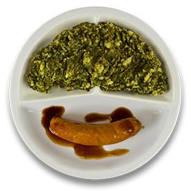 Ambachtelijke rookworst jus, stamppot boerenkool (v)