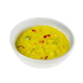 Gebonden currysoep met prei