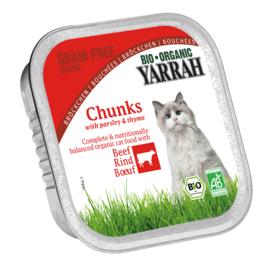Yarrah Kattenvoer chunks rund met peterselie & tijm in alu