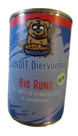 Bandit biologische blikvoeding Rund (hond) 6x400 gram