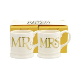 Tiny mugs Mr & Mrs Gold Espresso
