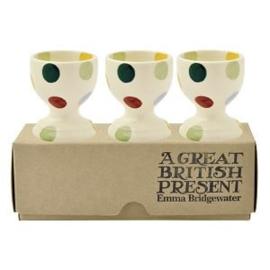 Egg cups Polka Dot set of 3