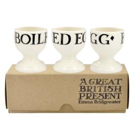 Egg cups Black Toast set of 3