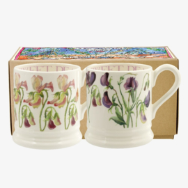 Boxed Half pint mugs Flowers 2019