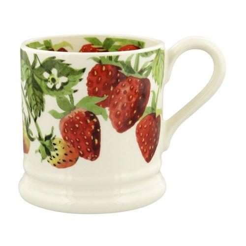Half pint mug Strawberries aardbei
