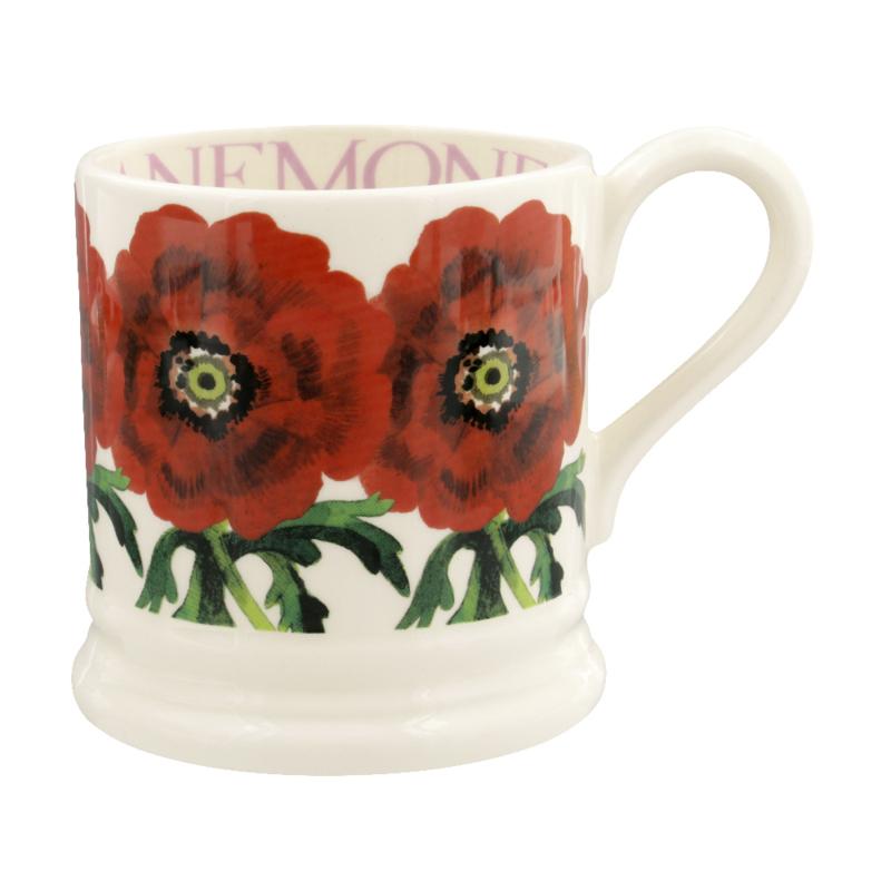 Half pint mug Red Anemone