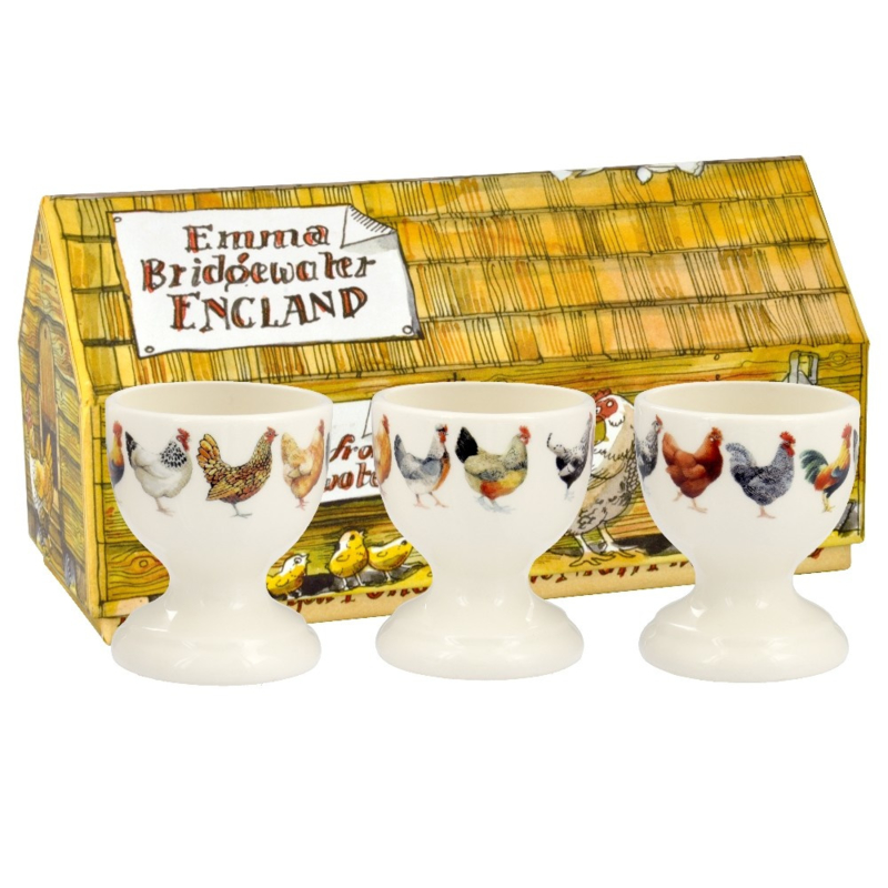 Egg cups Hen & Toast set of 3