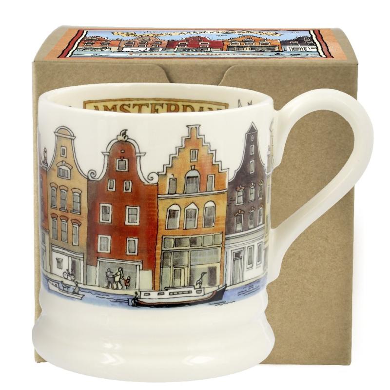 Boxed half pint mug Amsterdam