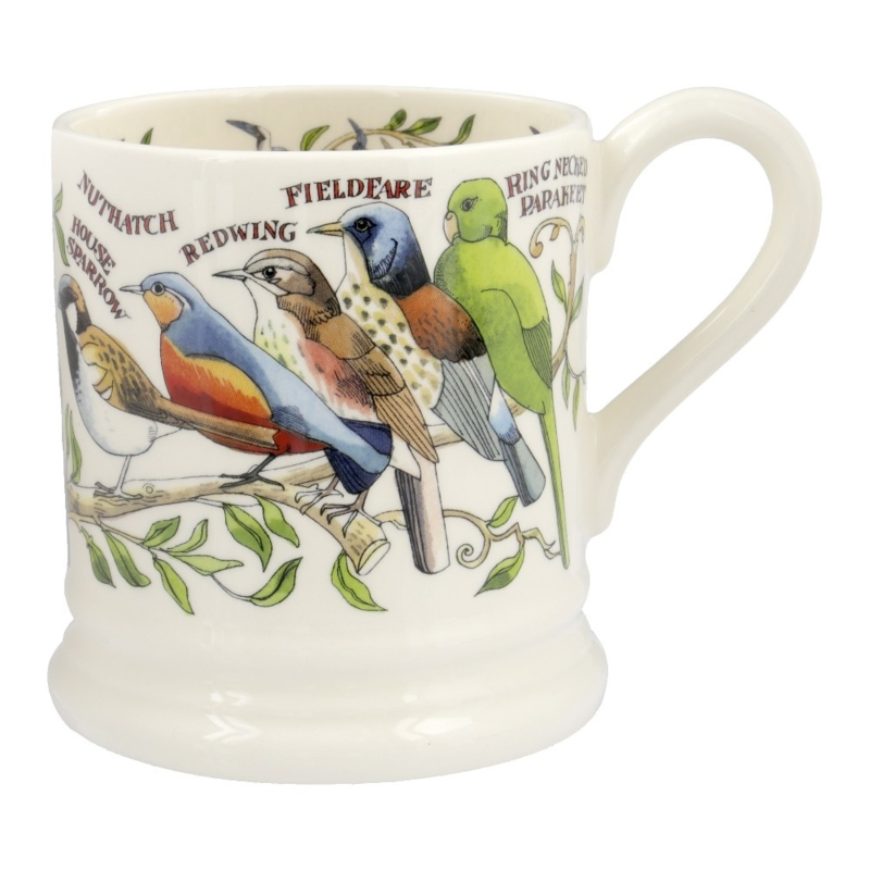Half pint mug Garden Birds