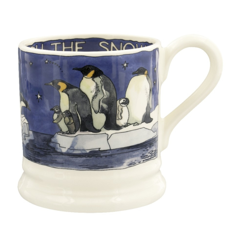 Half pint mug Winter Penguins