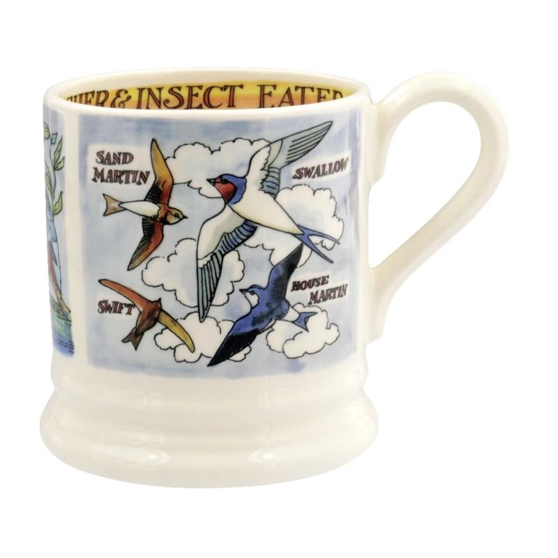 Half pint mug Kingfisher and Insects