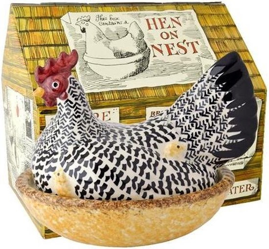 Large Silver Hen on Nest