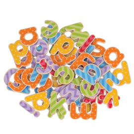 Houten magneet letters, kleine letter, BigJigs