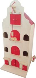 Houten speelgoed poppenhuis Pakhuis, 2 maten